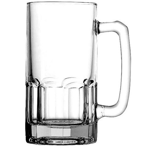 Anchor Hocking 34 Ounce Glass Beer Wagon Gusto Mug, Set of 4