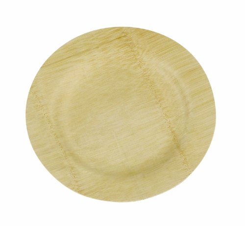 Island Bamboo 7-Inch Disposable Bamboo Plates, 10-Count Bag ()