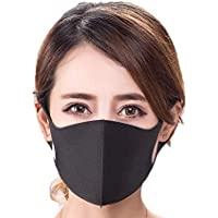 Fashion Reusable Unisex headband Waterproof fabric-mask Anti Pollution dust Adults Face-mask (Black)