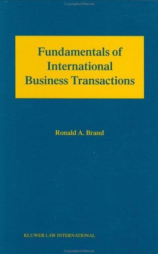 Fundamental International Business Transactions - Ronald A. Brand