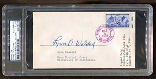 Fdc Bear - Lynn Pappy Waldorf Signed FDC Autographed Cal Bears D:1981 PSA/DNA *6726