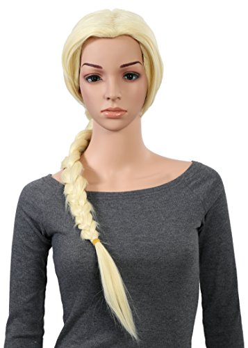 OneDor Long Braided Ponytail Cosplay Costume Light Blonde Wig by Onedor