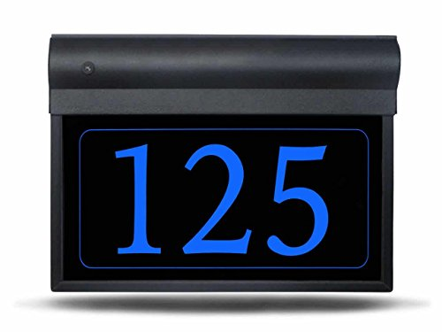 Sight Lights Personalized and Customized Illuminated LED Address Sign, Enlight Style, 14 Inch, Bright Blue