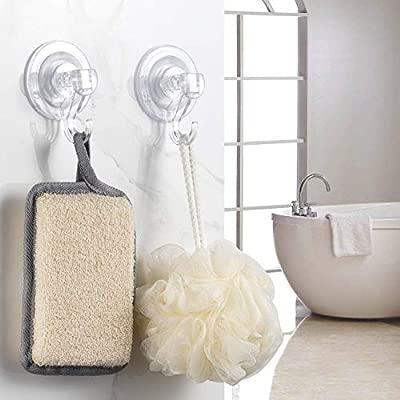 Elegear Ganchos Super Fuerte plástico succión Ultra Resistente Gancho Ventosa para el hogar Perchas 3 Pack Suction Hooks (3 Pack)