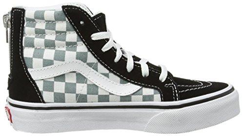 Vans Sk8-Hi Zip - Zapatillas Unisex Niños Multicolor (checkerboard/black/citadel)