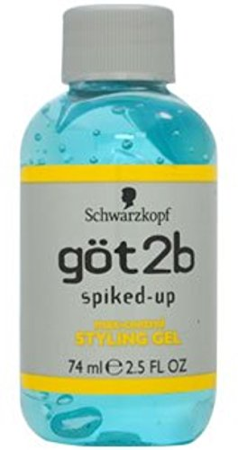 Got2b Spiked Up Styling Gel - got2b Spiked-Up Max-Control Styling Gel 2.50 oz (Pack of 6)