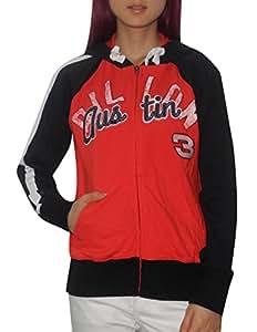 NASCAR AUSTIN DILLON #3 Womens Athletic Zip-Up Hoodie (Vintage Look) M Red & Black