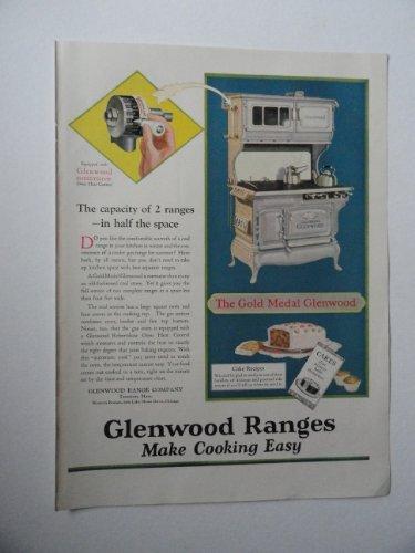 Glenwood Ranges, 20's Print Ad. full page Color Illustration (Gold Medal Glenwood)Original Vintage 1925 Modern Priscilla Magazine Print art - Glenwood Range