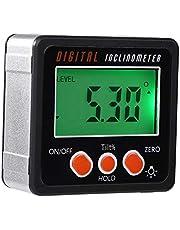 hudiemm0B Precision Digital Protractor Gauge Level Angle Finder Inclinometer Magnet Base