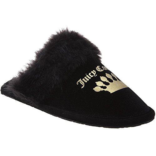 Juicy Couture Faith Womens Slippers Black