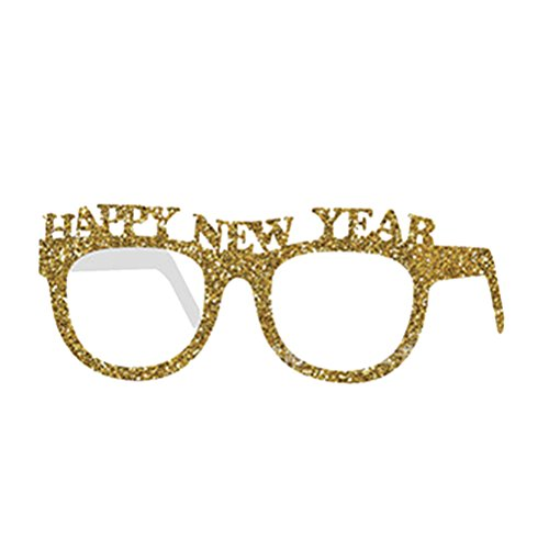 BESTOYARD Happy New Year Glasses Party Favor Glasses Fancy Decorative Eyeglasses Glitter Frame Photo Prop for 2018 Party Supplies - Eve Years New Glasses 2018
