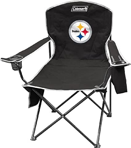 NFL Portable Folding Chair with Cooler and Carrying Case - Pittsburgh Steelers Logo Nylon