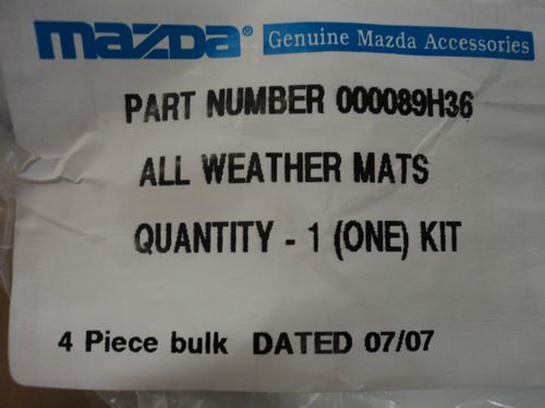 MAZDA 6 2003-2008 NEW OEM SET OF FOUR ALL WEATHER FLOOR MATS 0000-89-H36
