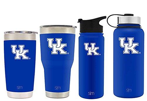 Simple Modern 18oz Summit Water Bottle - Kentucky Wildcats Vacuum Insulated 18/8 Stainless Steel Travel Mug - Kentucky