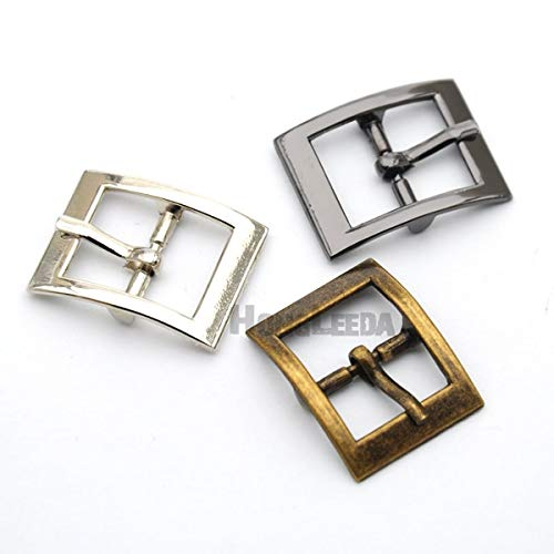 Buckes - Wholesale 30pcs/lot 15mm Metal Buckle with pin Alloy Belt Buckle Shoe Buckle Nickle/Black/Bronze BK-044 - (Size: Mixed Colors) from Lysee