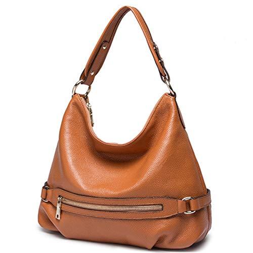 Vendimia Las Cuero Ywx Bag Sling Señoras Bucket Bandolera La De color Marrón Style Moda Marrón Invierno Bolso Genuino Fashion Ywwq7