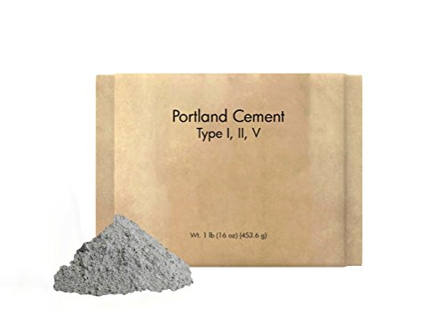 (Portland Cement (1 lb.) by Pure Organic Ingredients, Eco-Friendly Packaging, Sulfate Resistant, Low Hydration Heat, Type I, II, V)