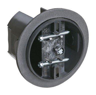 - Carlon CFB-16-F Ceiling Fan Box, Saddle, New/Old Work, 4-Inch Diameter by 3-5/16-Inch Depth, Black