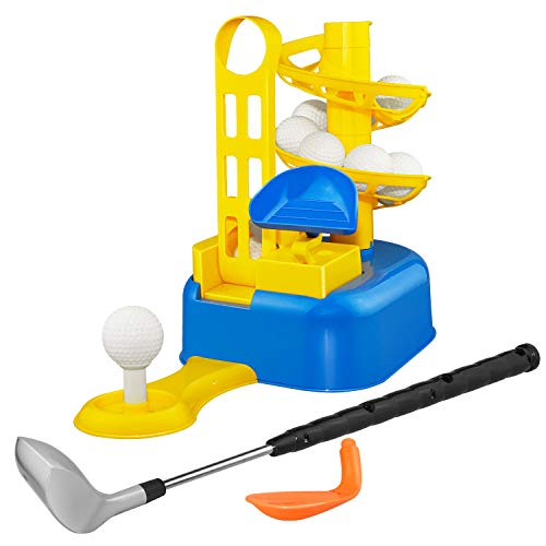 Outdoor Toys for 3-8 Year Old Boys, dmazing Golf Set For Kids 3-8 Golf Ball Game Early Educational Toys For 3-8 Year Old Boys Girls Christmas Xmas Gifts Age 3-8 Stocking Stuffers Stocking Fillers Blue