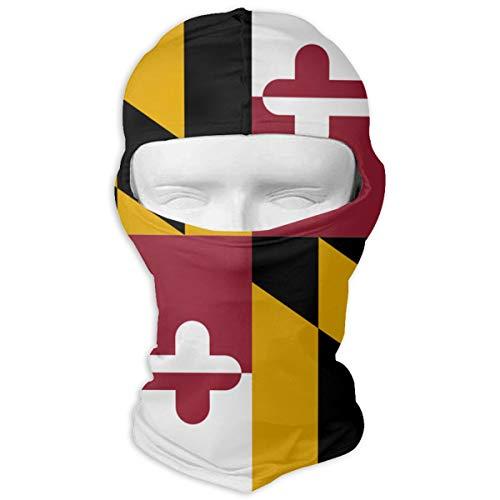 (Northern Nebula Maryland Flag Crab Balaclava - Windproof Ski Mask - Motorcycle Full Face UV Protection Mask)