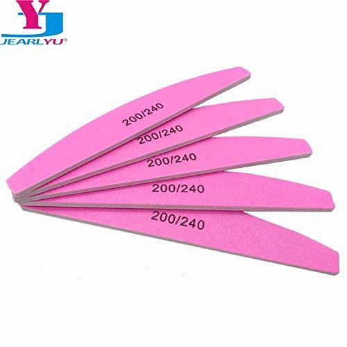 5 pcs/lot Nail Art Sanding Pink Nail File Sandpaper Grit 200/240 Buffer Polishing For Manicure Care Tools Beauty Salon Tools -
