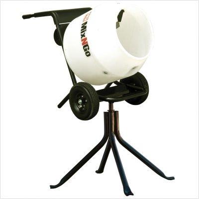 Multiquip MC3SEA Concrete Mixer, Steel Drum, 0.75 hp, 115V Single Phase Electric Motor, 3cf Drum Capacity