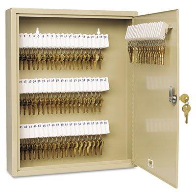 Uni-Tag Key Cabinet, 80-Key, Steel, Sand, 14 x 3 1/8 x 17 1/8, Sold as 1 Each