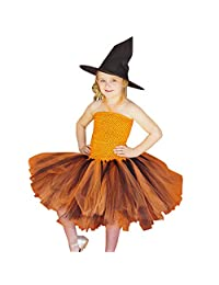 DRAGONHOO Toddler Kids Baby Girls Halloween Cosplay Tutu Dress Party Clothes 4t Girls Outfit Set
