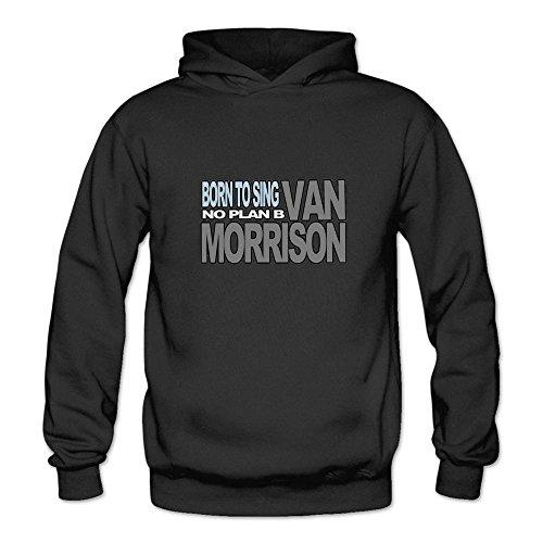 Ivantop Van Morrison LOGO fashion Women's Hoodie Sweatshirt Black