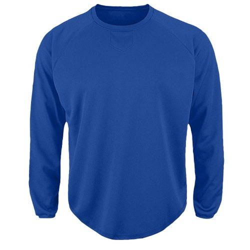 Majestic Pullover - Majestic Men's Premier Home Plate Tech Fleece Pullover Royal Blue Medium