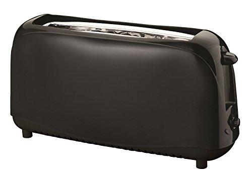 Toaster Langschlitz 2 Scheiben Toastautomat in schwarz cool Touch