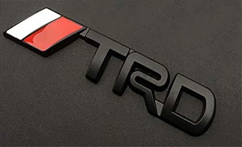 3D Metal Logo Decal Badge Labeling DIY Car Decoration Black, 3.740.74 inch,Car Emblem TRD for Fj Cruiser, Supercharger, Tundra, Tacoma, 4runner,Yaris,Camry 1PCS