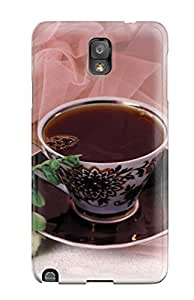 New Tpu Hard Case Premium Galaxy Note 3 Skin Case Cover(black Tea And Roses Food Tea)