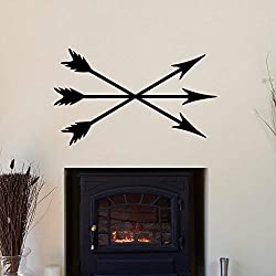 Athena Bacon Vinyl Sitcker Crossed Arrows Tribal Arrow Vinyl Wall Decal Nursery Bedding Decor 22in x 37in