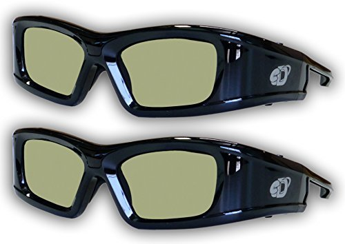 SAMSUNG 2 PACK Compatible eDimensional RECHARGEABLE 3D Glasses for 2011-15 Bluetooth 3D TV's by eDimensional