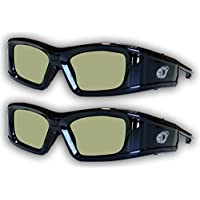 SAMSUNG 2 PACK Compatible eDimensional RECHARGEABLE 3D Glasses for 2011-15 Bluetooth 3D TV's