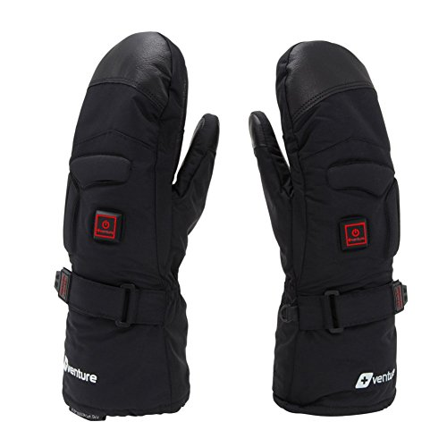 VentureHeat Epic 2.0 Battery Heated Mittens (Black, X-Large) (Battery Heated Mittens)