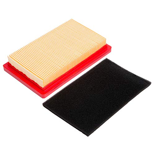 HOODELL 951-10298 Air Filter with Pre Filter, Compatible for Cub Cadet 951-14632 SC100, Kohler 14 083 01-S, MTD 951-10298 and More, Premium Lawn Mower Air Cleaner Kit (Huskee Mower)