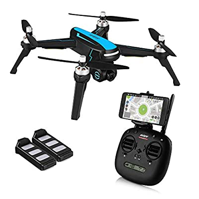 HELIFAR B3 FPV Drone 1080p HD Camera Live Video GPS Return Home, RC Quadcopter Adults Beginners Brushless Motor, Follow Me, 5G WiFi Transmission by HELIFAR