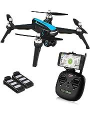 HELIFAR B3 Drone GPS, FPV Drone con Camara HD 1080p, 5G WiFi GPS Quadcopter, Avión Radiocontrol con Follow Me, 120º Gran Angular, RTF Altitude Hold, Retorno automático de batería Baja ( Dos baterias)