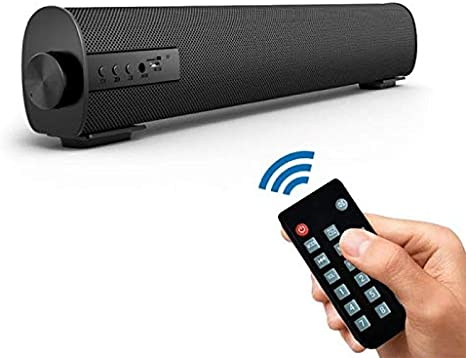 Altavoces Bluetooth PC, Barra de Sonido para TV PC Smartphones Música y Películas con Bluetooth 4.1, Inalámbrico y Alámbrico(Black)