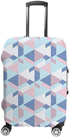 スーツケースカバー モザイクと六角形 伸縮素材 キャリーバッグ お荷物カバ 保護 傷や汚れから守る ジッパー 水洗える 旅行 出張 S/M/L/XLサイズ