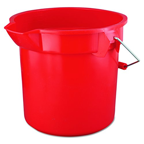 Rubbermaid Commercial Brute Round Bucket, 14 Quart, Red, - Quart Pail Double