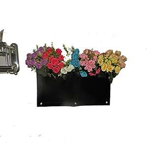 Pared de cultivo hängend pared Maceta Bolsa de flores con 2bolsillos//reutilizable//