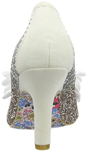 Irregular Choice Ascot - Tacones Mujer Multicolor (Silver/Gold)