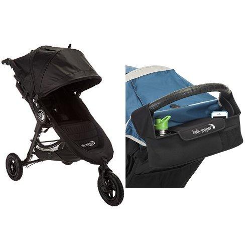 Handlebar Console Single (Baby Jogger 2016 City Mini GT Single Stroller - Black/Black & Baby Jogger Parent Console - Universal)