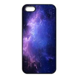 IPhone 5,5S Cases Purple Space Nebula, [Black]