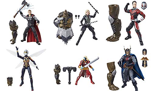 - Marvel Avengers Legends Series 6-inch Thor, Black Widow, Black Knight, Malekith, Ant Man, and Wasp Complete Set for Cull Obsidian