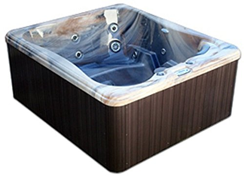 5 Person Spa Hot Tub Signature Brand - 2 HP Pump - 25 SS Jets - 110v - 20 Amp - Titanium Hydro-Therm Smart Heater - Made in the USA - 2 Year Warranty - Model SS-4 - 5 Jetted Seats