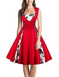 DealBang Women's Retro 1950s Classy Polka Dot Rockabilly Vintage Tea Dress S-5XL